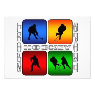 Spectacular Hockey Personalized Invitation