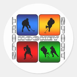 Spectacular Hockey Round Sticker