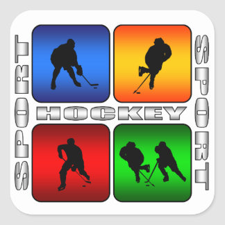 Spectacular Hockey Square Stickers