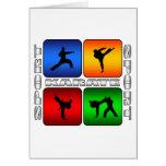 Spectacular Karate Greeting Card