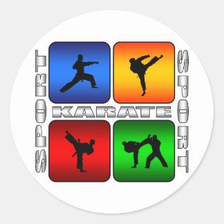 Spectacular Karate Round Sticker