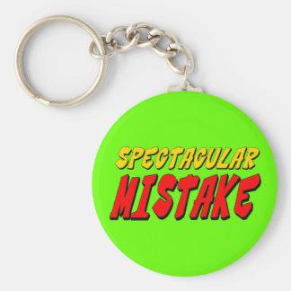 Spectacular Mistake Basic Round Button Key Ring