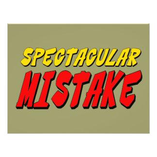 Spectacular Mistake Custom Flyer