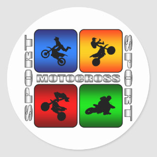 Spectacular Motocross Classic Round Sticker