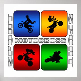 Spectacular Motocross Poster