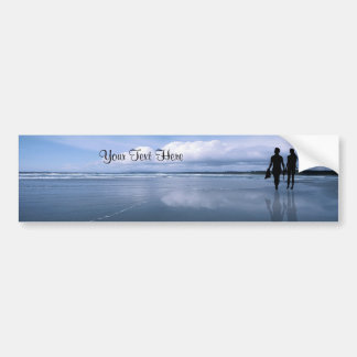Spectacular Ocean Waves and Beach Bumper Sticker
