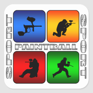 Spectacular Paintball Square Sticker