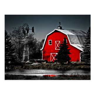 Spectacular Red Barn Postcard