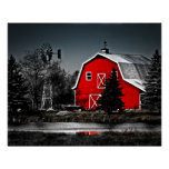 Spectacular Red Barn Poster