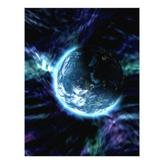 Spectacular Space Starry Aurora Nebula 21.5 Cm X 28 Cm Flyer