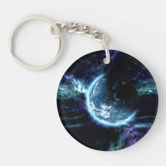 Spectacular Space Starry Aurora Nebula Acrylic Keychain