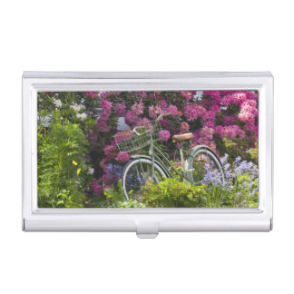 Spectacular spring bloom, whimsical antique business card holder