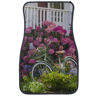 Spectacular spring bloom, whimsical antique car mat
