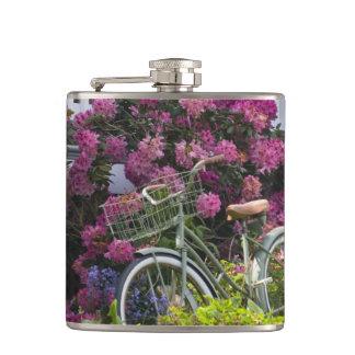 Spectacular spring bloom, whimsical antique hip flask