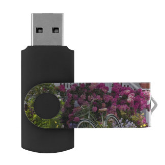 Spectacular spring bloom, whimsical antique swivel USB 2.0 flash drive