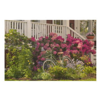 Spectacular spring bloom, whimsical antique wood print