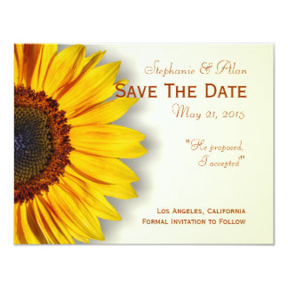 Spectacular Sunflower Save The Date Card