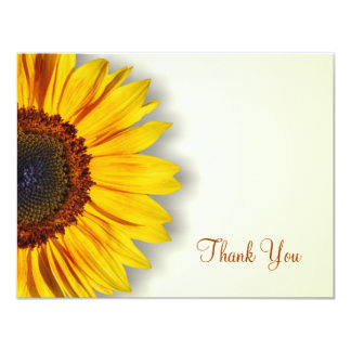 Spectacular Sunflower Thank You Card 11 Cm X 14 Cm Invitation Card
