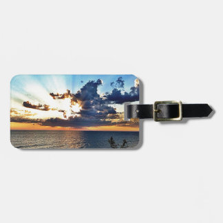 Spectacular sunset over Lake Michigan Tag For Luggage