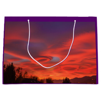 spectacular sunset over the mountains on Gift Bag