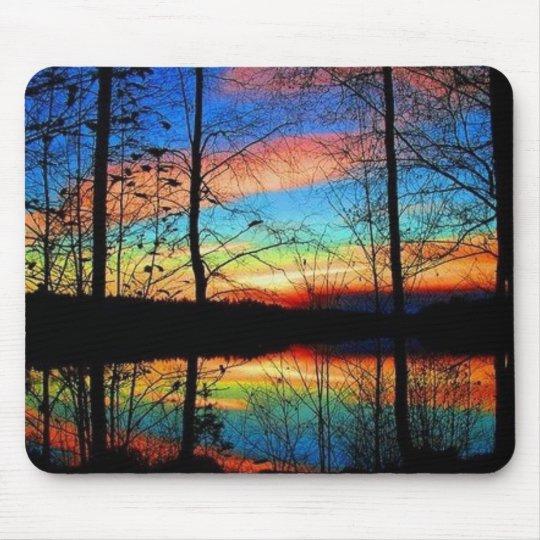 Spectacular Sunset Through Trees Mouse Mat