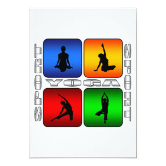 Spectacular Yoga 13 Cm X 18 Cm Invitation Card