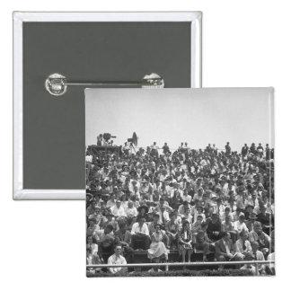 Spectators 15 Cm Square Badge
