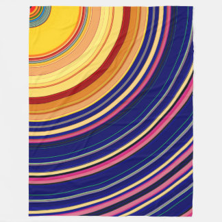 Spectral Sun Rays Fleece Blanket