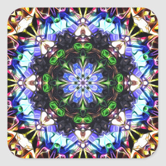 Spectral Symmetry Abstract Square Sticker