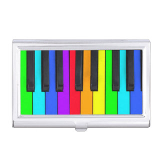 Spectrum Colors Piano Keyboard Business Card Holder