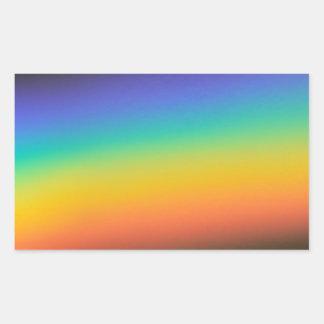 Spectrum Colors Rectangular Sticker