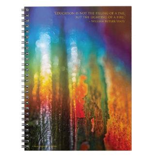 Spectrum design for teachers - Spiral Notebook