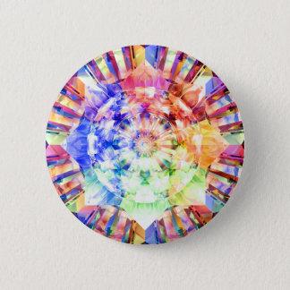 Spectrum Fractal 6 Cm Round Badge