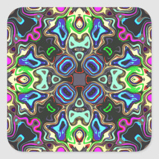 Spectrum of Abstract Shapes Square Sticker