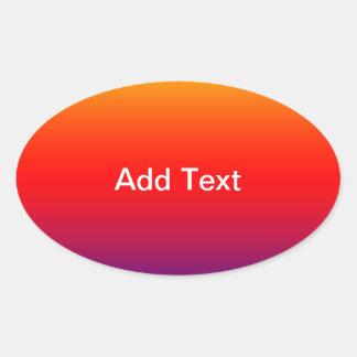 Spectrum of Horizontal Colors -1 Oval Sticker