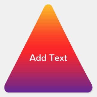 Spectrum of Horizontal Colors -1 Triangle Sticker