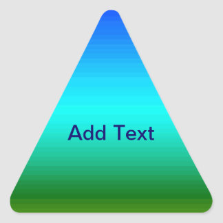 Spectrum of Horizontal Colors - 2 Triangle Stickers