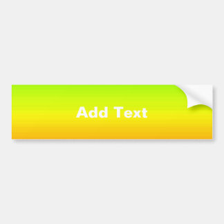 Spectrum of Horizontal Colors -3 Bumper Sticker