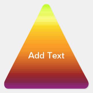 Spectrum of Horizontal Colors -3 Triangle Sticker