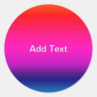 Spectrum of Horizontal Colors - 4 Stickers