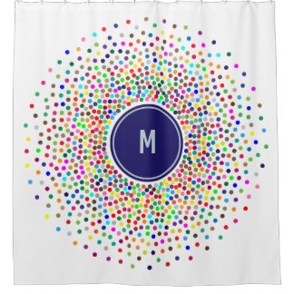 Spectrum of Polka Dots Shower Curtain
