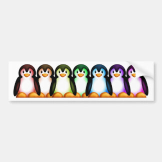 Spectrum Penguin Bumper Sticker