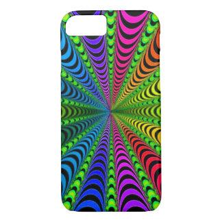 SPECTRUM Spiral, Visual Illusion, Rainbow / Green iPhone 8/7 Case