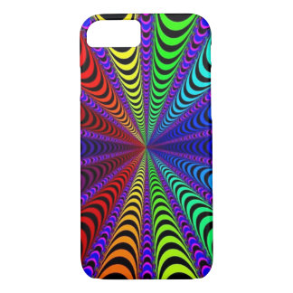 SPECTRUM Spiral, Visual Illusion, Rainbow / Purple iPhone 8/7 Case