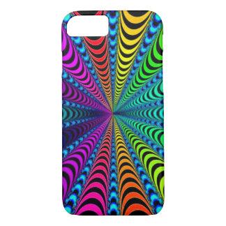 SPECTRUM Spiral, Visual Illusion, Rainbow / Teal iPhone 8/7 Case