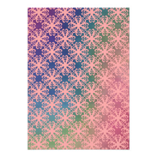 Spectrum with Abstract Lt Coral Flower Invitation