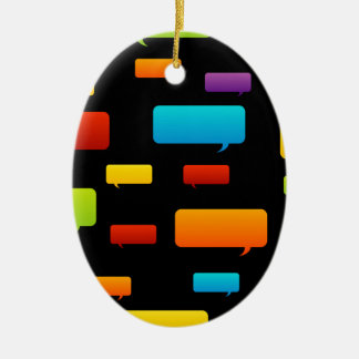 speech bubble background christmas ornament
