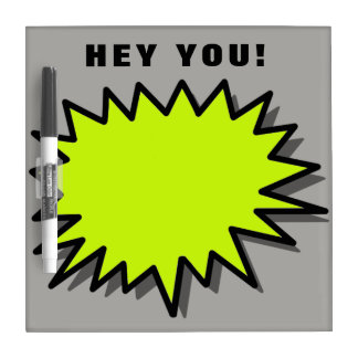 SPEECH BUBBLE DRYERASE BOARD NEON GREEN TEMPLATE Dry-Erase BOARD