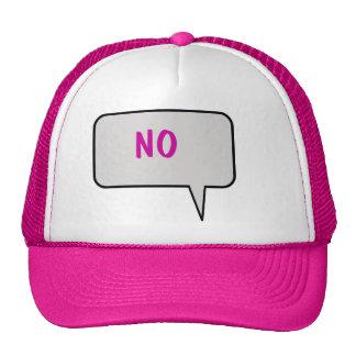 "Speech Bubble Saying ""No"" Hat"