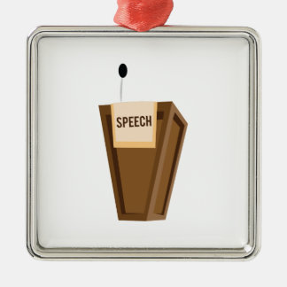 Speech Christmas Ornament